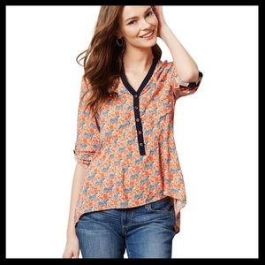Anthro Vanessa Virginia Honore Tiger Blouse